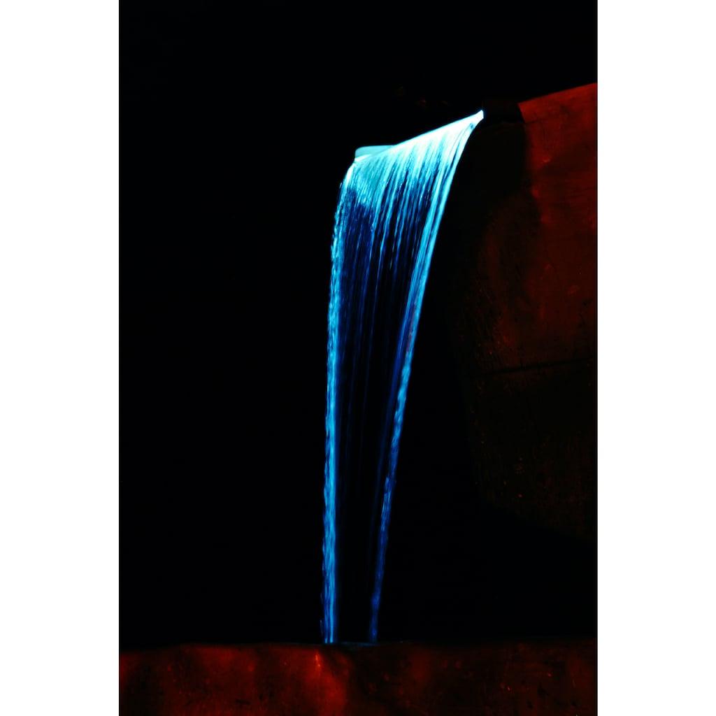 Ubbink Wasserfall »Niagara 60 LED«, (Set, Wasserfall mit 20 LEDs; Pumpe: 3.900 l/h, 2-m-Schlauch; Becken: 65 l)
