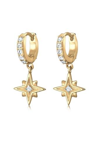 Elli Paar Creolen »Creole Astro Star Kristalle 925 Silber« kaufen