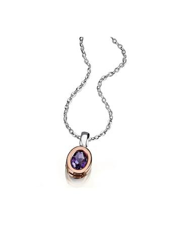 goldmaid Collier, 925/- Silber teilweise rot vergoldet 1 lila Amethyst kaufen