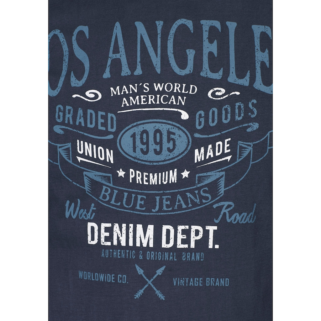 Man's World T-Shirt, mit großem Print