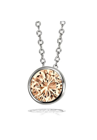 goldmaid Collier, 925 Silber Ankerkette 1 Zirkonia champagner kaufen