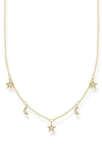 THOMAS SABO Silberkette »Monde & Sterne, KE2074-414-14-L45v«, mit Zirkonia kaufen