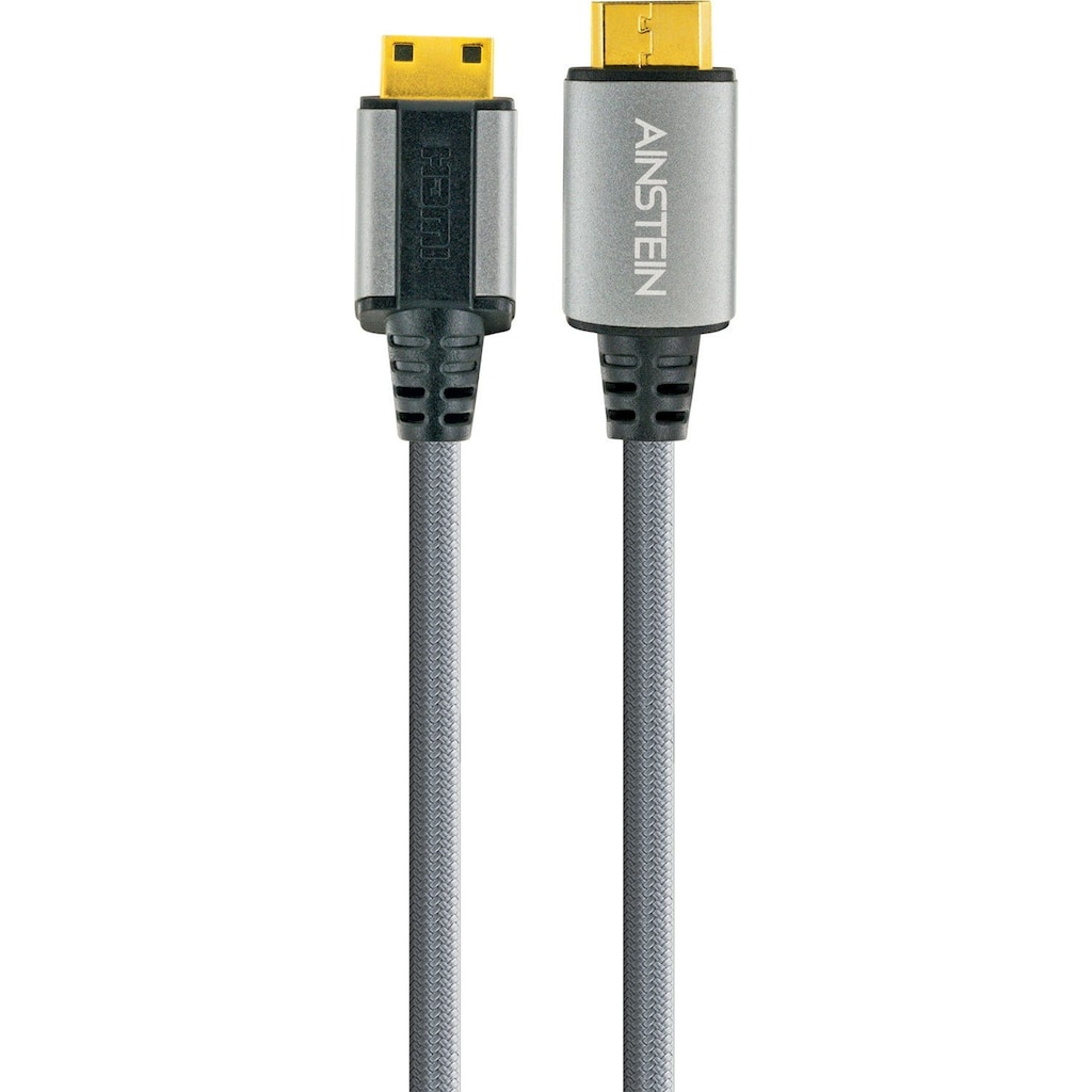 Schwaiger Highspeed HDMI Kabel mit Ethernet, 4K, Full HD, 3D, Ultra HD »mit Mini HDMI Stecker«