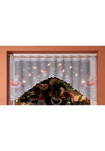 WILLKOMMEN ZUHAUSE by ALBANI GROUP Panneaux »Weihnachtsmann«, Jacquard-Panneauxbogen, handcoloriert kaufen