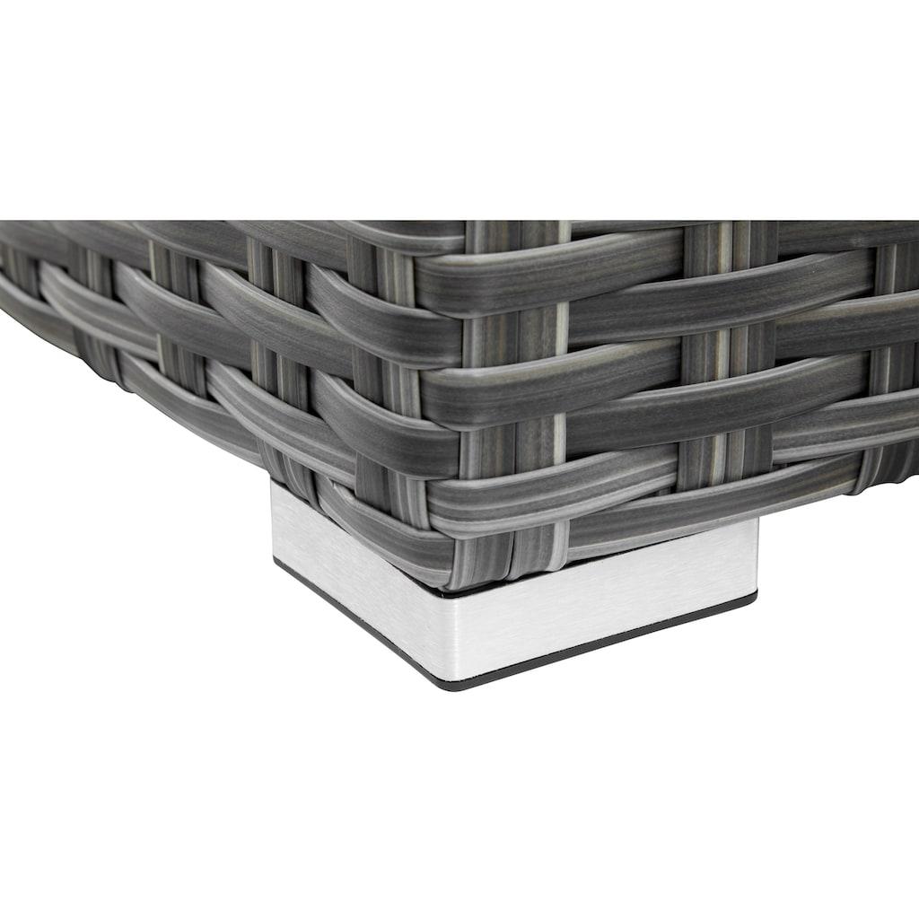 KONIFERA Loungeset »New York«, (21 tlg.), Ecklounge, Tisch 110x65 cm, Polyrattan