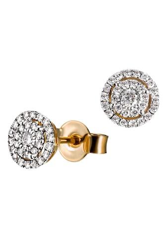 goldmaid Paar Ohrstecker 585/- Gelbgold 58 Brillanten 0,32 ct. P2/H kaufen