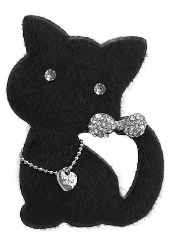 J.Jayz Brosche »Katze mit Anstecknadel«, (1 tlg.), mit Glassteinen kaufen