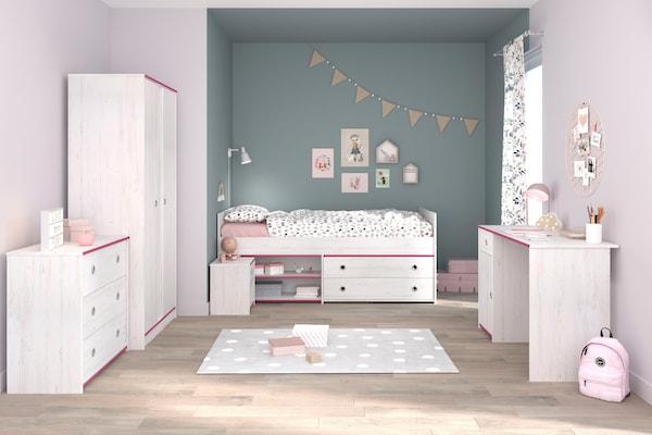 Komplett-Kinderzimmer in Weiß