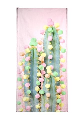 "Handtuch ""Marshmallow Cactus in Bloom"", Juniqe kaufen"