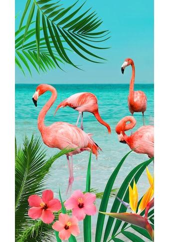 good morning Strandtuch »Flamingo«, (1 St.), mit Flamingos kaufen