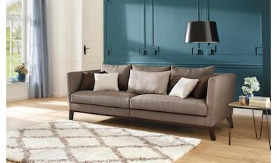 Home affaire Big-Sofa »Kim«, mit Holzbeinen und vielen losen Kissen kaufen