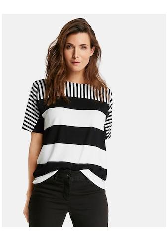 GERRY WEBER T - Shirt 1/2 Arm »1/2 Arm Shirt mit Streifenmix« kaufen