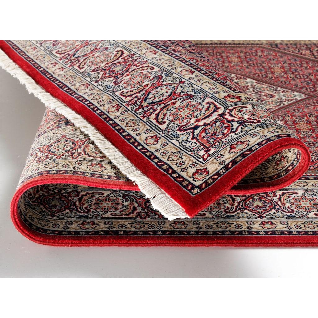 OCI DIE TEPPICHMARKE Orientteppich »Kamaro Bidjar«, rechteckig, 5 mm Höhe, reine Wolle, handgeknüpft, mit Fransen, Wohnzimmer