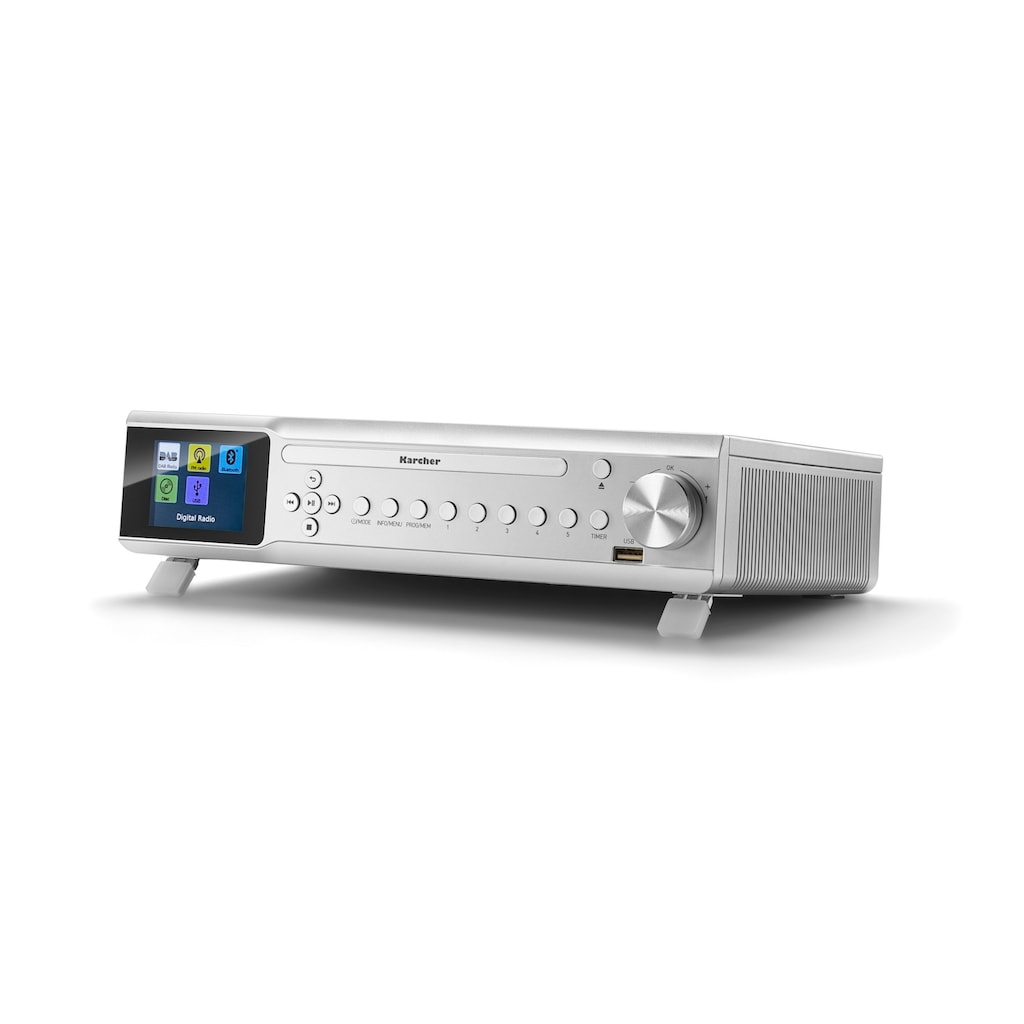 Karcher Küchen-Radio »RA 2060D-S«, (Bluetooth Digitalradio (DAB+)-UKW mit RDS 6 W), (CD-Player, DAB+ Radio, Bluetooth)