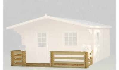 WOLFF FINNHAUS Terrasse für Gartenhaus, BxT: 500x200 cm, 70 mm kaufen