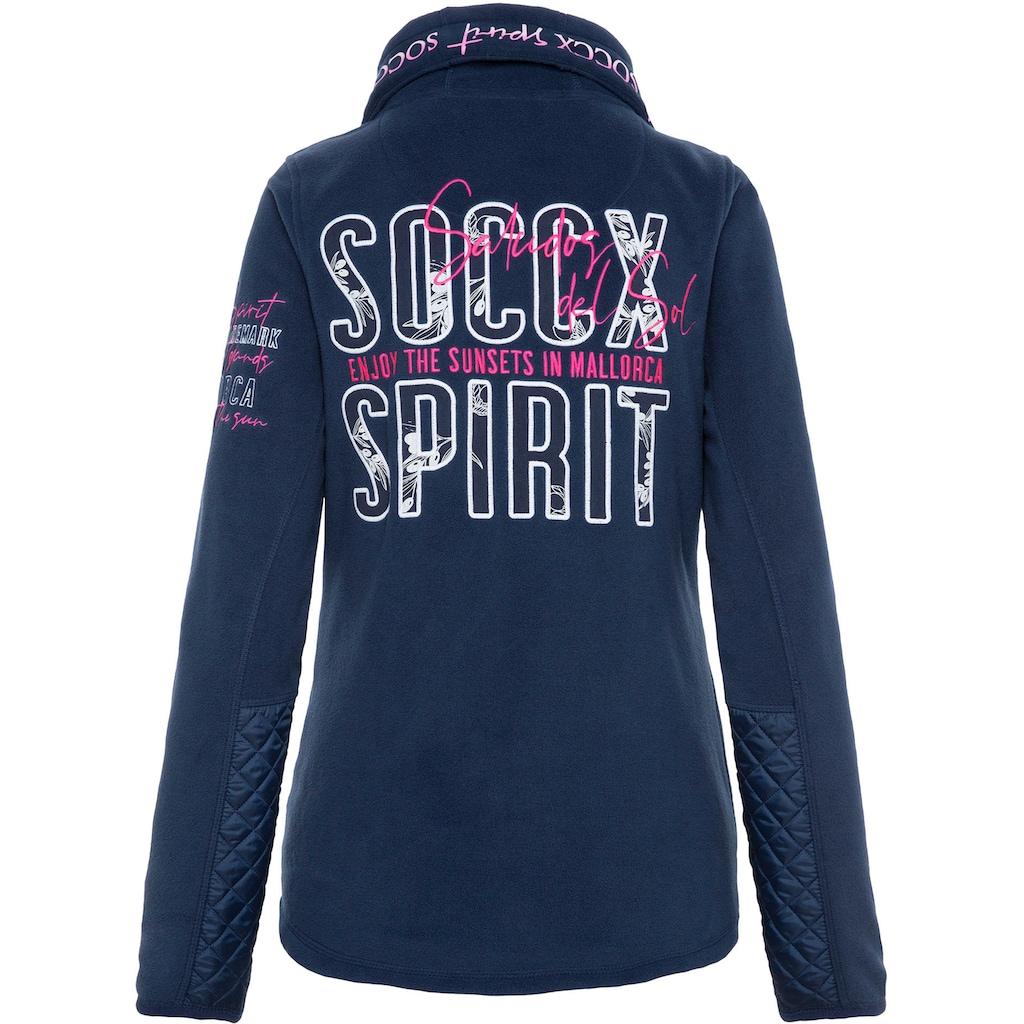 SOCCX Sweatjacke, mit Nylon-Steppungen