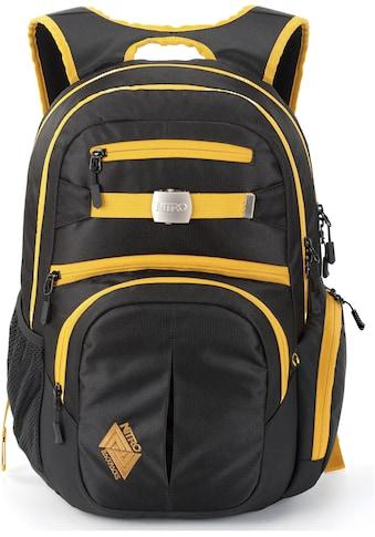 NITRO Schulrucksack »Hero, Golden Black«, mit Laptopfach kaufen