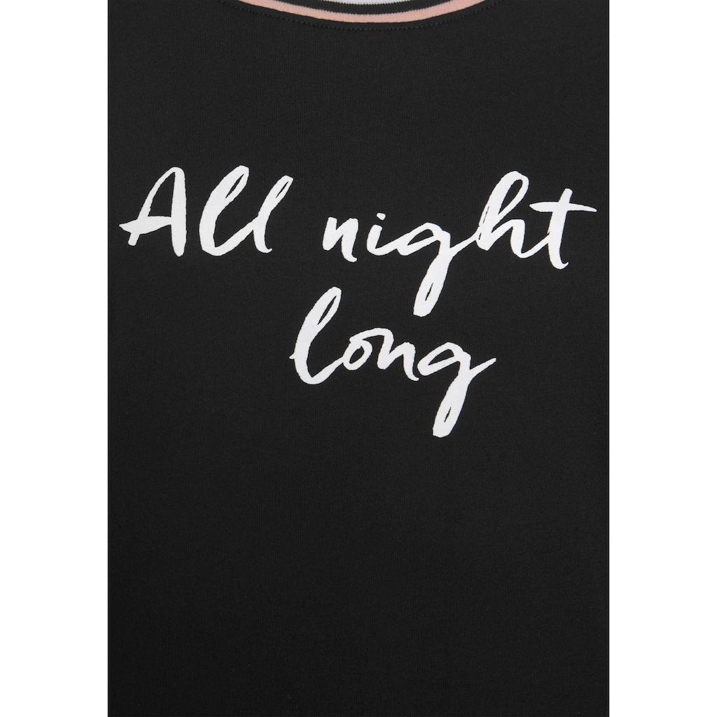 s.Oliver Nachthemd, mit Rippstrickbündchen