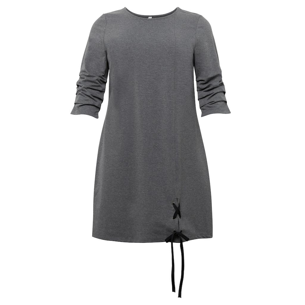 Sheego Sweatkleid, aus elastischer, unangerauter Sweatware