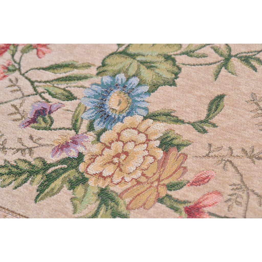THEKO Bettumrandung »Flomi Sagrini«, Bettvorleger, Läufer-Set für das Schlafzimmer, Flachgewebe, gewebt, Pastell-Farben, Blumen Design