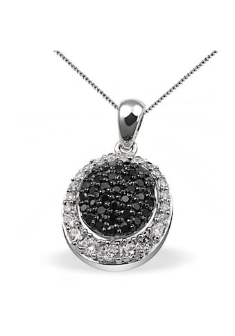 goldmaid Collier Silber 925 schwarz weisse Zirkonia Pavee kaufen