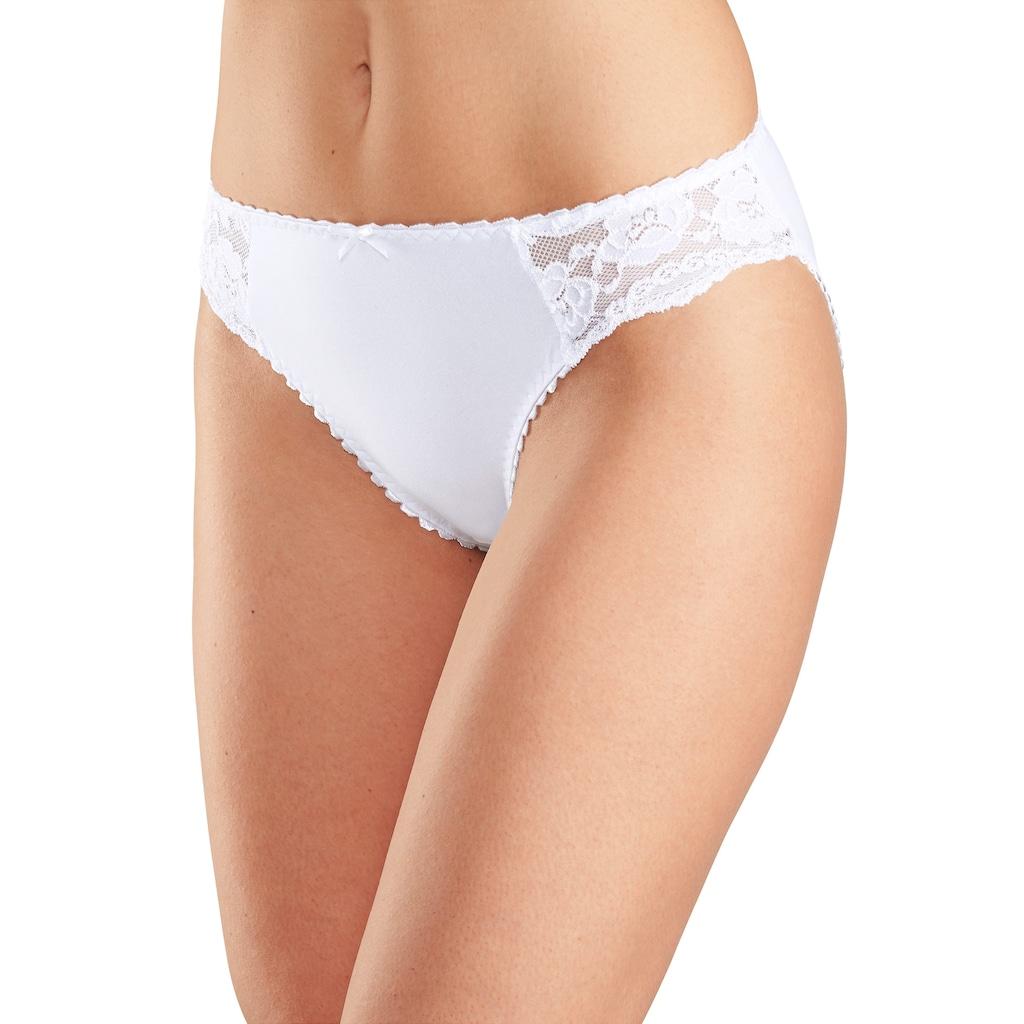 petite fleur Jazz-Pants Slips, (3 St.), mit floraler Spitze seitlich