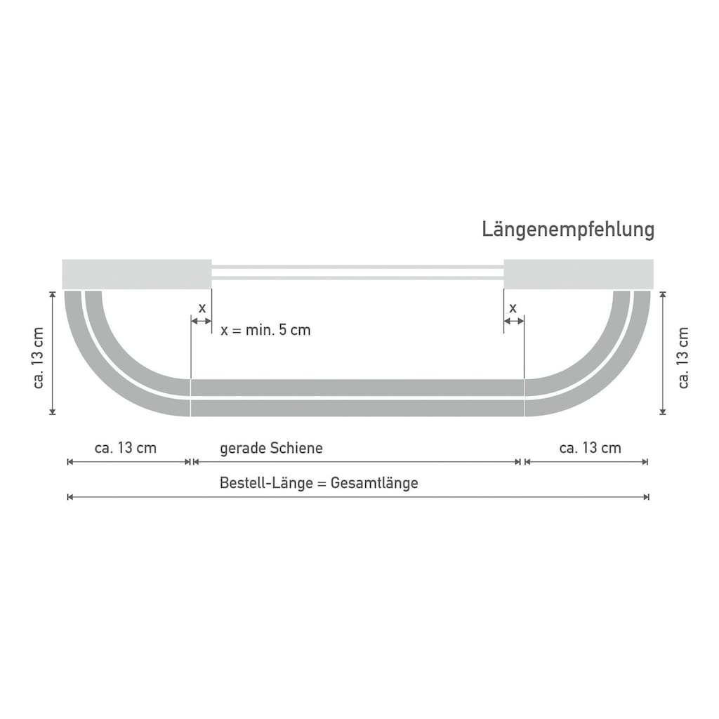 Good Life Vorhangschiene »SAM«, 1 läufig-läufig, Wunschmaßlänge, mit Rundbogen