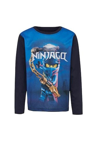 """LEGO® Wear Langarmshirt »CM-51132«, """"hat einen all-over-Druck mit dem blauen Ninja Jay"""" kaufen"""
