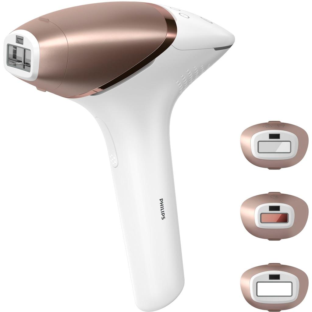 Philips IPL-Haarentferner »BRI955/00 Lumea IPL 9000 Series«, 450.000 Lichtimpulse, Aufsätze (Präzisionsbereiche, Körper, Gesicht), mit SmartSkin Sensor, mit SenseIQ Technologie