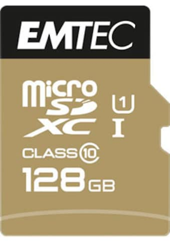 EMTEC Speicherkarte »microSD UHS-I U1 EliteGold«, (Class 10 85 MB/s Lesegeschwindigkeit) kaufen