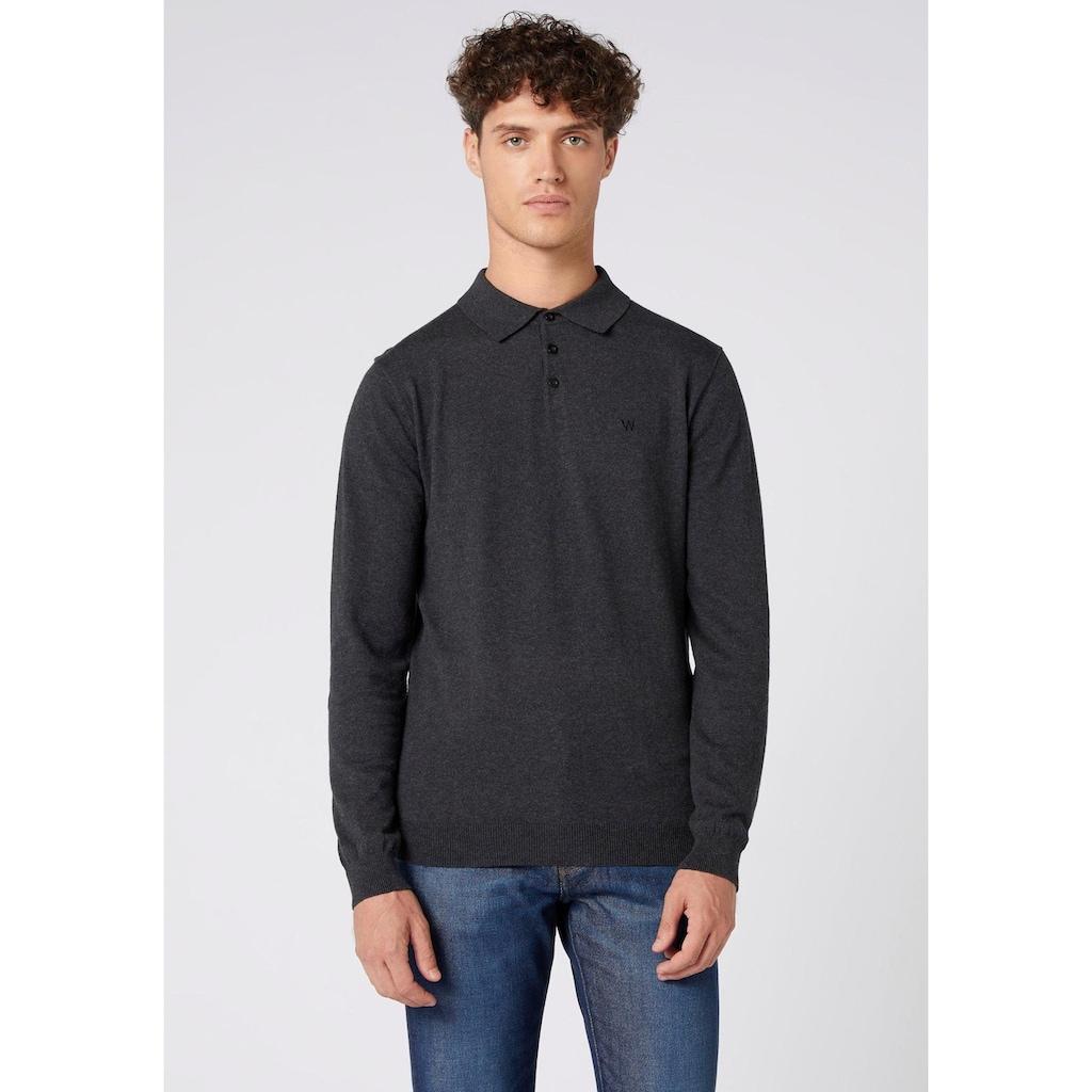 Wrangler Langarm-Poloshirt