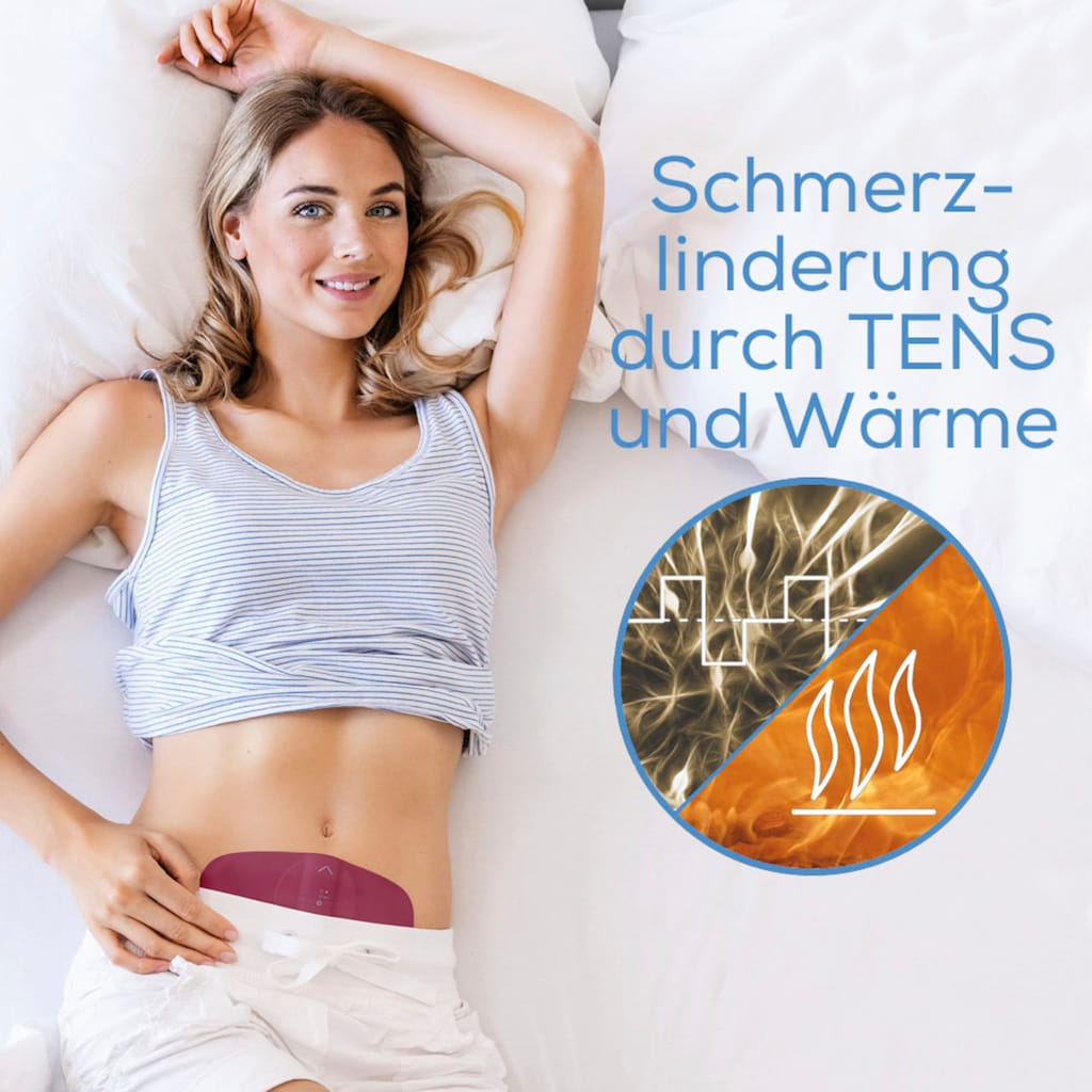 BEURER Menstruations-Pad »EM 50 Menstrual Relax TENS & Wärme Pad«, Inkl. 2 selbsthaftenden Gel-Pads