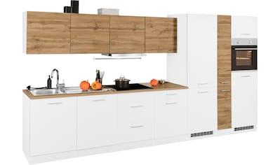 HELD MÖBEL Küchenzeile »Kehl«, mit E - Geräten, Breite 390 cm, wahlweise mit Induktionskochfeld kaufen