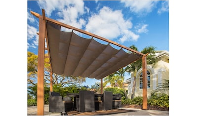 50NRTH Pergola »Aluminium Pavillon Florida 11x11«, BxL: 350x350 cm, inkl. Sonnensegel kaufen