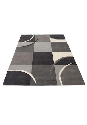 THEKO Teppich »Marco«, rechteckig, 6 mm Höhe, Kurzflor, mit Karomuster, Wohnzimmer kaufen