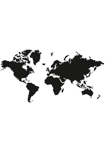 Wall-Art Wandtattoo »schwarze Weltkarte klassisch« kaufen