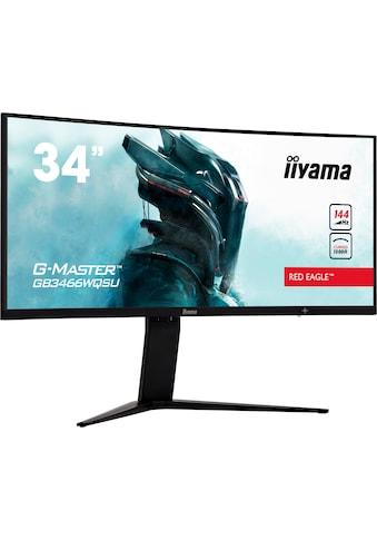 Iiyama »G - MASTER GB3466WQSU - B1« Curved - Gaming - LED - Monitor (34 Zoll, 3440 x 1440 Pixel, UWQHD, 1 ms Reaktionszeit, 144 Hz) kaufen