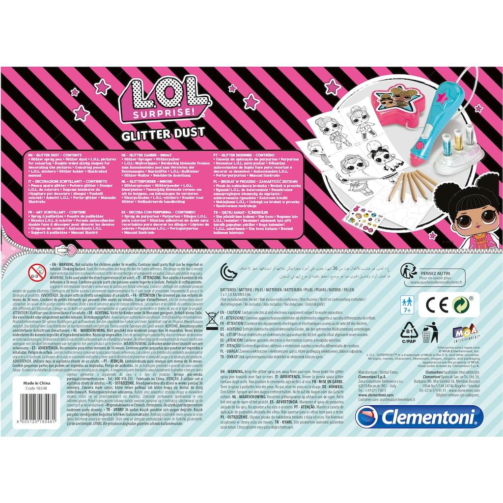 Clementoni® Kreativset »L.O.L. Glitzerstaub Kreativ-Set«, Made in Europe