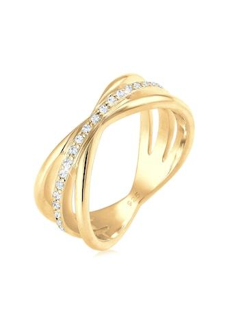 Elli Fingerring »Wickelring Blogger Kristalle 925 Silber« kaufen