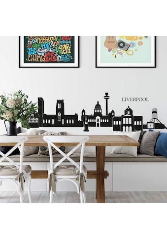 Wall-Art Wandtattoo »Stadt Skyline Liverpool 120cm« kaufen