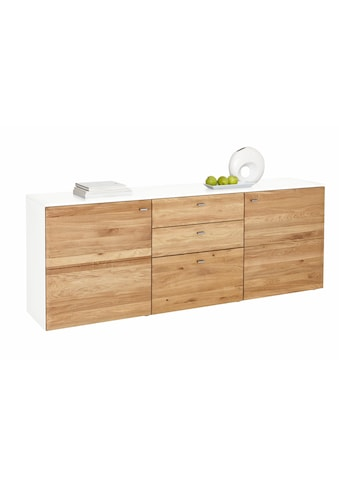 GWINNER Sideboard »SOLANO«, Lack weiß, 2-türig, Breite 195 cm kaufen