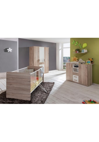 Babyzimmer-Komplettset »Bergamo«, (Set, 3 St.), Bett + Wickelkommode + Eckschrank kaufen