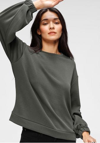 s.Oliver Sweatshirt, mit elastischen Gummibündchen kaufen