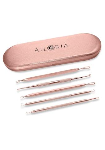 AILORIA Mitesserentferner »PURE«, Mitesserentferner-Set mit 5 verschiedenen Werkzeuge kaufen