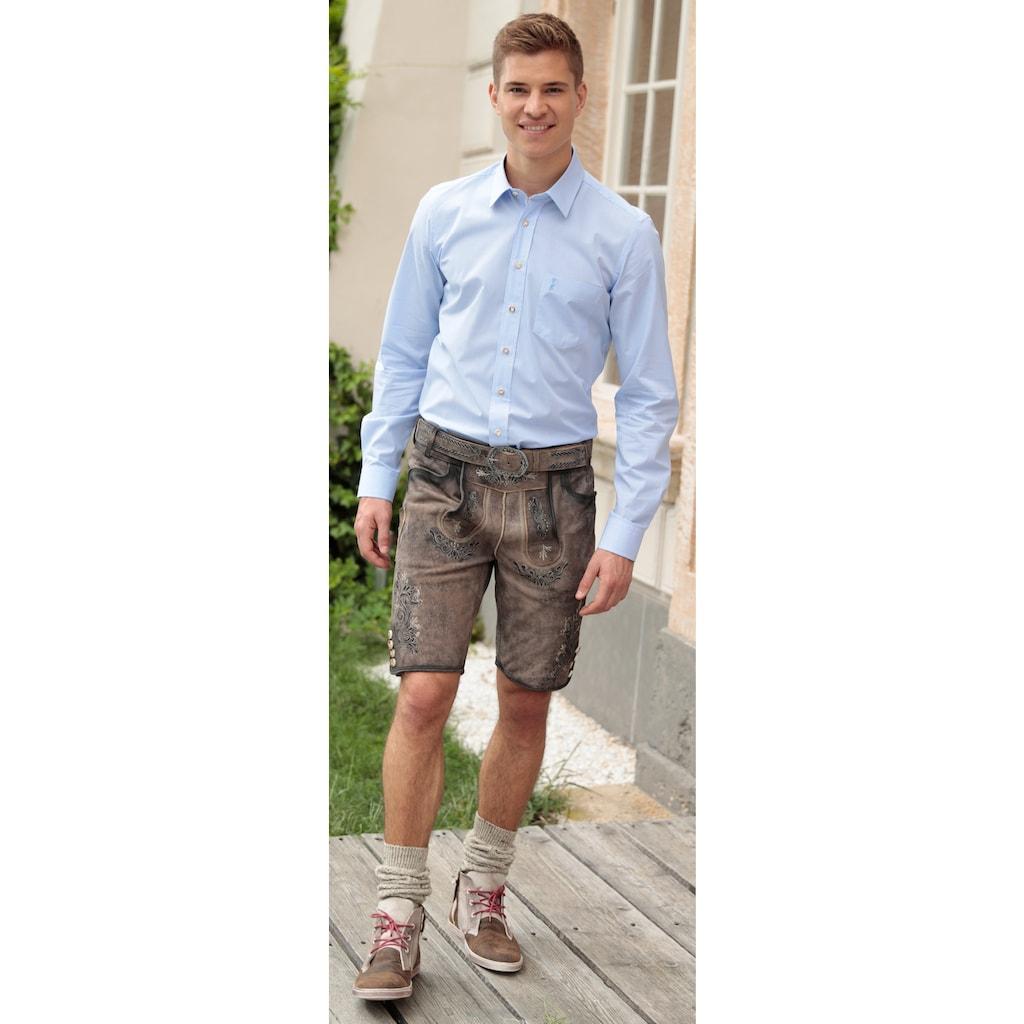 MarJo Trachtenlederhose, (2 tlg., mit Gürtel), kurz Herren im Used Look