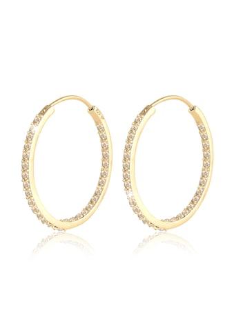Elli Paar Creolen »Creolen Kristalle auch Innen 925 Silber« kaufen