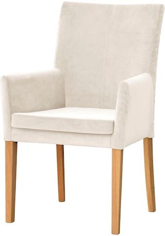 Leonique Armlehnstuhl »Vence«, mit Rautensteppung in der Rückenlehne, Beine aus... kaufen