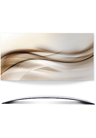 Artland Wandbild »Braune abstrakte Welle«, Muster, (1 St.), 3D Optik gebogen kaufen