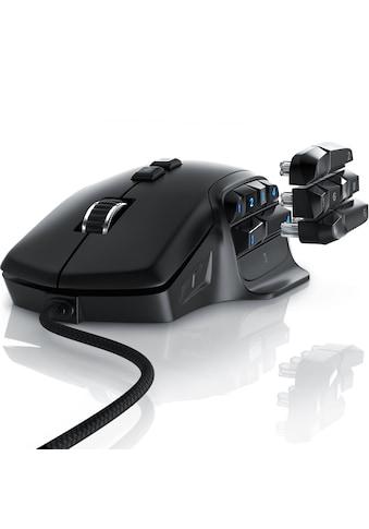 """Titanwolf MMO Gaming Maus """"System"""" »Auswechselbare Daumen Tasten / 10000 dpi« kaufen"""