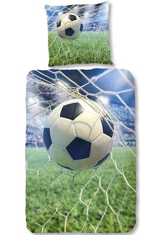 good morning Kinderbettwäsche »Sander«, mit großem Fußball kaufen